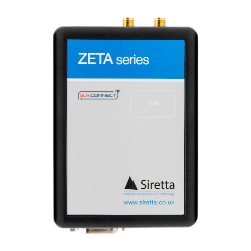 The ZETA-G-GPRS is an industrial modem designed for connecting equipment to the 2G / GSM cellular network. It has a global coverage quad band GPRS class 10 cellular engine offering CSD fall back. The ZETA-G-GPRS incorporates a full GNSS receiver which supports GPS, Glonass and Galileo for advanced tracking applications.