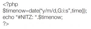 Siretta modem example PHP time script